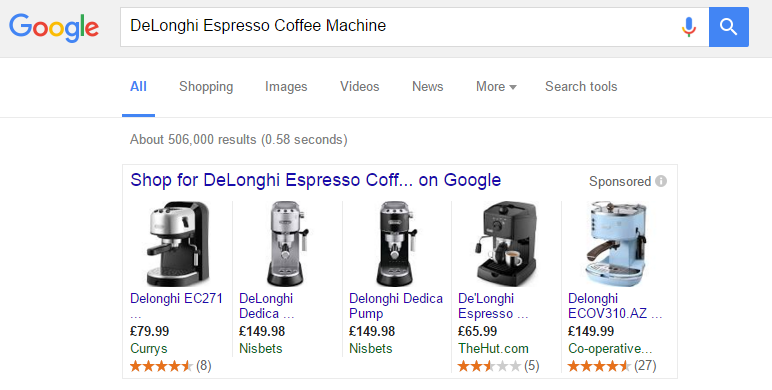 DeLonghi Espresso Example