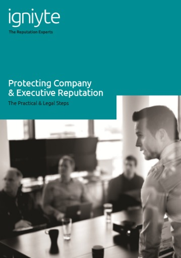 Protecting Company & Executive Reputation