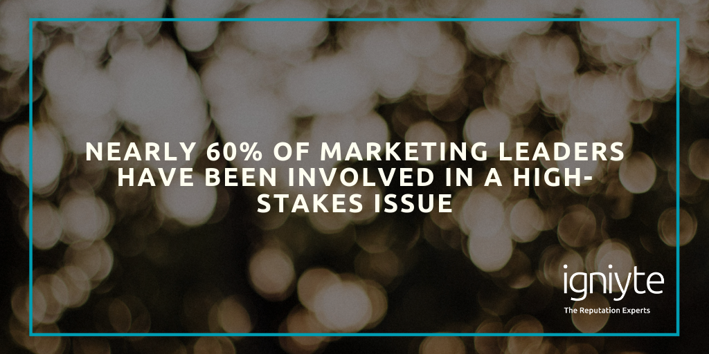 Marketing leaders have been involved in a high-stakes issue