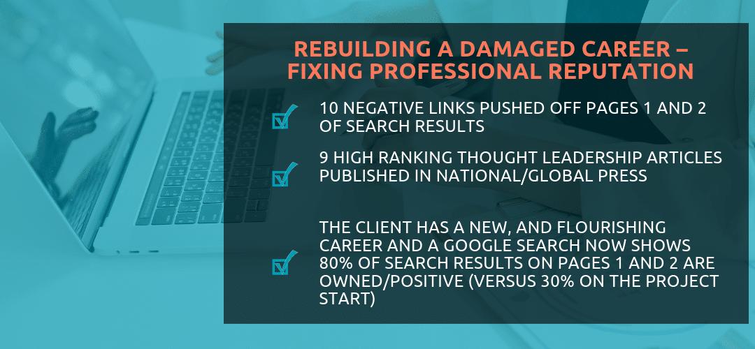 Rebuilding A Damaged Career